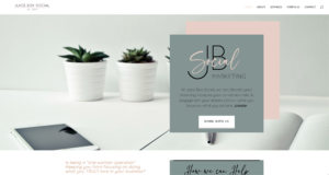 Wordpress site - Juice Box Social Media